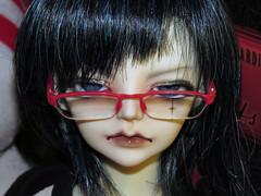 .:: Haru ::. (Bunraku Doll) Tags: boy glasses doll 14 bjd ドール resin custom haru msd 春 shibata メガネ megi dollzone 柴田