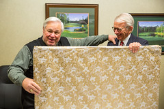 Mayor Summey presents farewell gift to Mayor Riley (North Charleston) Tags: painting charleston gift rendering mayorriley northcharleston admiralshouse joeriley josephriley charlestonnavybase mayorsummey quartersa keithsummey