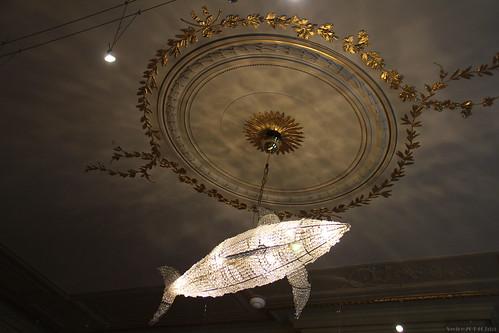 Fish chandelier