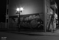 Murale rue Dufresne (Denis Hbert) Tags: denishbert anthropogeo faubourgmlasse centresud montreal montral qubec quebec canada monochrome montrealnight montrealcentresudnight montrealfaubourgmlassenight murale mur ngc noiretblanc nuitcentresud nuitfaubourgmlasse nuitmontreal nuit night bw blackandwhite blackwhite black blanc balcon balcony ville city extrieur calme november novembre 2015 steet shadowy shadows shadow darkandlight dark fall automne graffiti ombrage ombre urban urbain rue tranquilit wall quiet