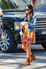 DSE_6026 (ze06) Tags: candid street cannes croisette mipcom sexy girl gorgeous glamour woman brunette sunglasses dress minidress boots