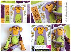 Monkey Beanie, cut and create. (cathieshuttleworth) Tags: monkey sewing pattern