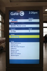 01a.MARC.PennLine.435.MD.26September2016 (Elvert Barnes) Tags: 2016 marylanddepartmentoftransportation masstransitexploration publictransportation publictransportation2016 ridebyshooting ridebyshooting2016 maryland md2016 baltimoremd2016 pennstation pennstation2016 pennstationbaltimoremd2016 pennstation1515ncharlesstreetbaltimoremaryland trainstation commuting commuting2016 baltimoremaryland baltimorecity amtrakbaltimorepennsylvaniastation pennstationbaltimoremaryland september2016 26september2016 monday26september2016triptowashingtondc gatectrack5baltimorepennstation marc2016 marc marctrain marcmarylandarearegionalcommutertrainservice marctrain435 marctrain435southboundwashingtondc monday26september2016marctrain435southboundenroutetowashingtondc baltimorepennstationgatectrack5 sign signs2016 solariboards leddisplays leddisplays2016