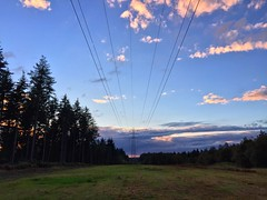 Powerlines At Sundown (Marc Sayce) Tags: powerlines power lines sundown woolmer ranges mod whitehill hampshire south downs national park