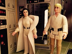 Luke And Leia (Tracheotomy Bob) Tags: star wars palitoy death toys luke skywalker princess leia bridge swing