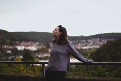 A Place to Belong (33/52) (Rchel Ky) Tags: germany marburg sweaterweather female city overlook autumn