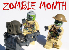 Zombie Month! (Saber-Scorpion) Tags: lego minifig minifugures moc brickarms brickforge fallout newvegas fallout4 ncr ghoul ghouls t60powerarmor powerarmor t60 zombies