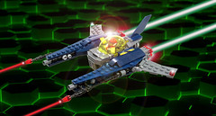 CS2 Vic Viper (Genghis Don) Tags: lego moc space spaceship spacecraft fightercraft starfigther fighter vic viper nnovvember