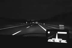 Monochrome Photography Transportation Night Car Speed Horizontal No People Outdoors Red Light Road Sign Motion On The Road Highways&Freeways Horizontal Blackandwhite Photography Black And White (claudio_fornaciari) Tags: monochromephotography transportation night car speed horizontal nopeople outdoors redlight roadsign motion ontheroad highwaysfreeways blackandwhitephotography blackandwhite