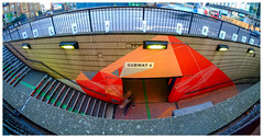 Subway 4.... (kevingrieve610) Tags: old street london flickr fujifilm wow wideangle samyang 8mm fisheye outdoor autumn 2016 pavement stairs station underground tube