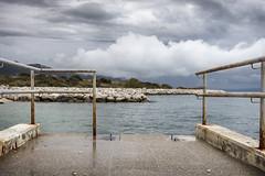 Split jugo 2 (LukaBoban) Tags: sea wind bay shore dark clouds water stone rock blue grey winter cold seascape croatia split