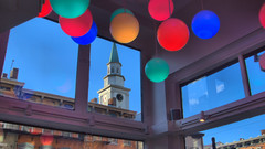 From the inside looking out Macaron Bar Over-the-Rhine OTR Cincinnati OH by sheldn (2sheldn) Tags: inside looking out macaron bar overtherhine otr cincinnati oh sheldn canon t5i hdr red green blue orange sky church window store front