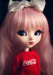 Rosie (Antique Wolf) Tags: pullip kirsche luts pink obitsu coca cola bow red white blue pale adorable doll dolls dollie toy toys toies lol okay eyelashes rewigged partical custom parcial dunno how spell it sorry bout headshot type 3