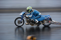 Junior Drag Bike (Fast an' Bulbous) Tags: bike biker rider moto motorcycle drag strip race track fast speed power acceleration motorsport outdoor
