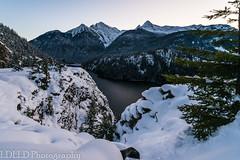NT2.0403-NC160102_162356 (LDELD) Tags: rockport washington unitedstates us northcascades highway20 lakediablo winter snow dusk mountains skagitriver lake