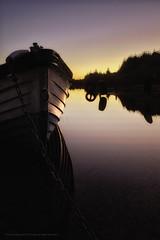 Carrigavantry Lake Sunset (Spookwoman) Tags: carrigavantry lake sunset shy sky water reflections reflection mirror landscape ireland waterford