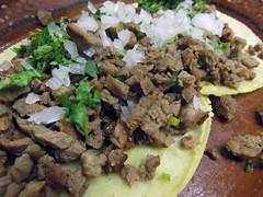 Beef Tacos at Panchos Takos in Puerto Vallarta, Mexico (albatz) Tags: panchostakos puertovallarta mexico tacos beeftacos food