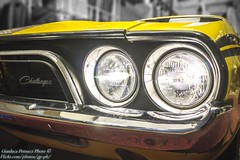 1972 Dodge Challenger RT (Gianluca Petrucci) Tags: automobile car dodge challenger rt 60 70 yellow giallo muscle oldschool american