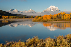 Oxbow Bend (greggohanian) Tags: grandtetons tetons oxbowbend relections foliage autumn snakeriver river