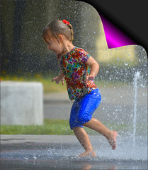 Pure Joy (swong95765) Tags: fountain fun girl play scampering water wet kid joy happy excited run cute