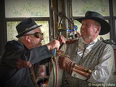 Unhand me Sir (Julies Camera) Tags: ptx steampunk steampunks krakenslair vistorian costume tophat goggles vistorianladies vistoriangentlemen