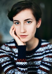 Canon 1n Kodak Portra (Kseniya Levi) Tags: canon kodak portra portrait portraiture grain negative light 1n analog natural girl young