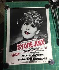 Vintage Sylvie Joly poster from the Paris Flea Market (blackthorne56) Tags: vintage sylvie joly poster from paris flea market