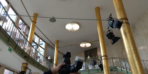 Goldhalle - Foyer zum HR-Rundbau