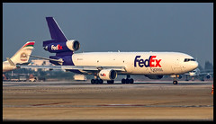 Federal Express McDonnell Douglas MD11F N612FE Bangalore (BLR/VOBL) (Aiel) Tags: federalexpress fedex mcdonnelldouglas md11 md11f n612fe bangalore bengaluru canon60d tamron70300vc freighter cargo trijet