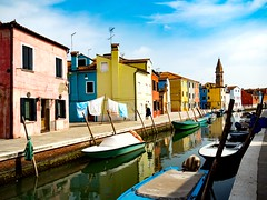Burano Italy (jim2302) Tags: app mobile burano italy water color watercolor boat canal april venice