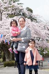 Portrait in the Spring (Wunkai) Tags: hitachishi ibarakiken japan  ziyiwang jeanwang   sakura    amusementpark