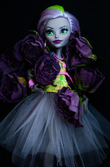 DSC_1804 (silksurgery) Tags: monsterhigh monster high moanica dkay doll mattel purple lilac dolls dead flowers