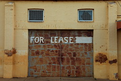 For Lease (Darren Schiller) Tags: wellington rusty door sign abandoned building closed derelict disused decaying deserted empty facade commercial rustic rusted smalltown