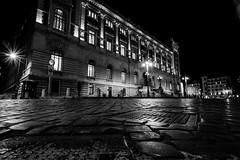 Piazza del Parlamento by night (ambrogio_mura) Tags: piazza place parlamento roma nikon d7100 tokina 1224 atx pro dxii long exposure light shadows ittiri sardegna sardinia black white bw bn