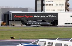 N.A.F 041 visit. (aitch tee) Tags: cardiffairport aircraft militaryaircraft dassault falcon20ecm norwegianairforce 041 cwlegff maesawyrcaerdydd walesuk