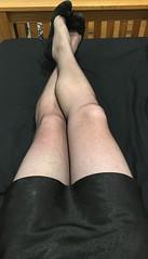 Being naughty (TVNicola & Mistress) Tags: tv heels high slip satin stockings black