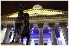 The Duke of Wellington (Ben.Allison36) Tags: dukeofwellington goma glasgow night shot scotland statue horse traffic cone hand held