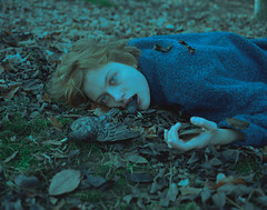 Silence (laura makabresku) Tags: laura makabresku film analogue women girl birds woods mystic pale light dark darkness obscure leaves cold death photography conceptual cinematic