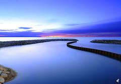 Cros de Cagnes (natur6belle) Tags: bleu longuepose nuit matin calme leverdujour heurebleue cagnes nd1000 lisse