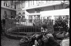(Forcella Mon Amour) (Robbie McIntosh) Tags: leicamp leica mp rangefinder streetphotography 35mm film pellicola analog analogue negative leicam analogico blackandwhite bw biancoenero bn monochrome argentique dyi selfdeveloped filmisnotdead autaut candid strangers leicaelmarit28mmf28iii elmarit 28mm eyecontact man elmarit28mmf28iii microphen rolleirpx400 rollei rpx400 teatrotrianon cippoaforcella motorcycle