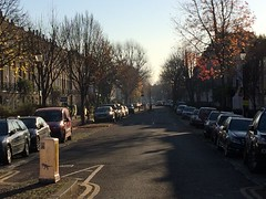 Cloudesley Road (My photos live here) Tags: london camden caledonian road capital cloudesley houses cars bollard tarmac city england i phone 5s autumn