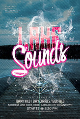 Lake Sounds Flyer Template (DesignerwooArt) Tags: 300dpi 3d abstract advertising alien alternative artwork bass broken city cmyk design dj dope download drum electro event fest festival flyer free future futuristic galaxies galaxy geometry high hiphop house invitation man manipulation minimal minimalist minimalistic modern music party photoshop poster print psd rap rock sky smoke sound sounds space tech techno template trap triangle triangles trippy universe urban dubstep geometrix art hipster robot