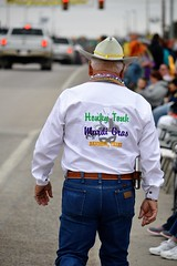 Celebrate Bandera! in Bandera, Texas (Diann Bayes) Tags: texas travel tourism event festival people mardigras cowboy bandera hillcountry purple gold green parade guns west western native americans indians dance shootout wagon shooting