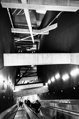 Fovam ter - Budapest (Pierre Pichot) Tags: 6d architecture black blackwhite blackandwhite budapest building canon city electric fovamter hungary metro monochrome perspective pichot pierre stairs station street streetphotography streets travel underground urban urben vacation vienna white winter
