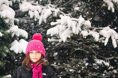 (Rebecca812) Tags: girl child winter snowing trees hat coat northface cute childhood tween copyspace portrait rebecca812 canon