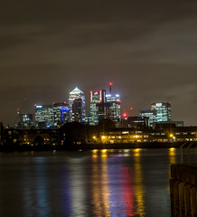 Canary Wharf (Mayur Shivz - Out and about casual photography) Tags: from london thames night buildings river high long exposure view greenwich olympus panasonic wharf canary rise f28 omd em5 1235mm
