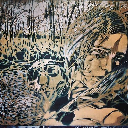 Detail from a #artisteouvrier #wall - #Paris #streetart #graffiti #streetartparis #streetart_daily #urbanart #stencil