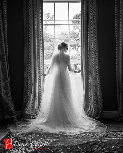 Paula's stunning dress by @stewartparvin Beautiful bride, gorgeous dress and awesome venue. Wedding of the year? #brides #bridestory #bridesgown #weddings #fashion #weddingstyle #scottishweddings #castle #monochrome #beautiful @smpweddings @weddings @drea