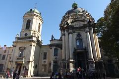 A Domonkosok temploma eredetileg rmai katolikus templomnak plt a 18. szzadban Jzef Potocki, lengyel mgns megbzsbl. A szovjet idkben mzeum volt, most grg katolikus templom. A neobarokk harangtorony 1865-ben plt. (sandorson) Tags: travel lviv ukraine galicia lvov  lww lemberg galcia leopolis ukrajna    sandorson ilyv halics