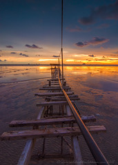 Once Upon a Time | Jeram Beach Selangor (SalehuddinLokman) Tags: sunset seascape reflection nikon jetty tokina oldjetty d90
